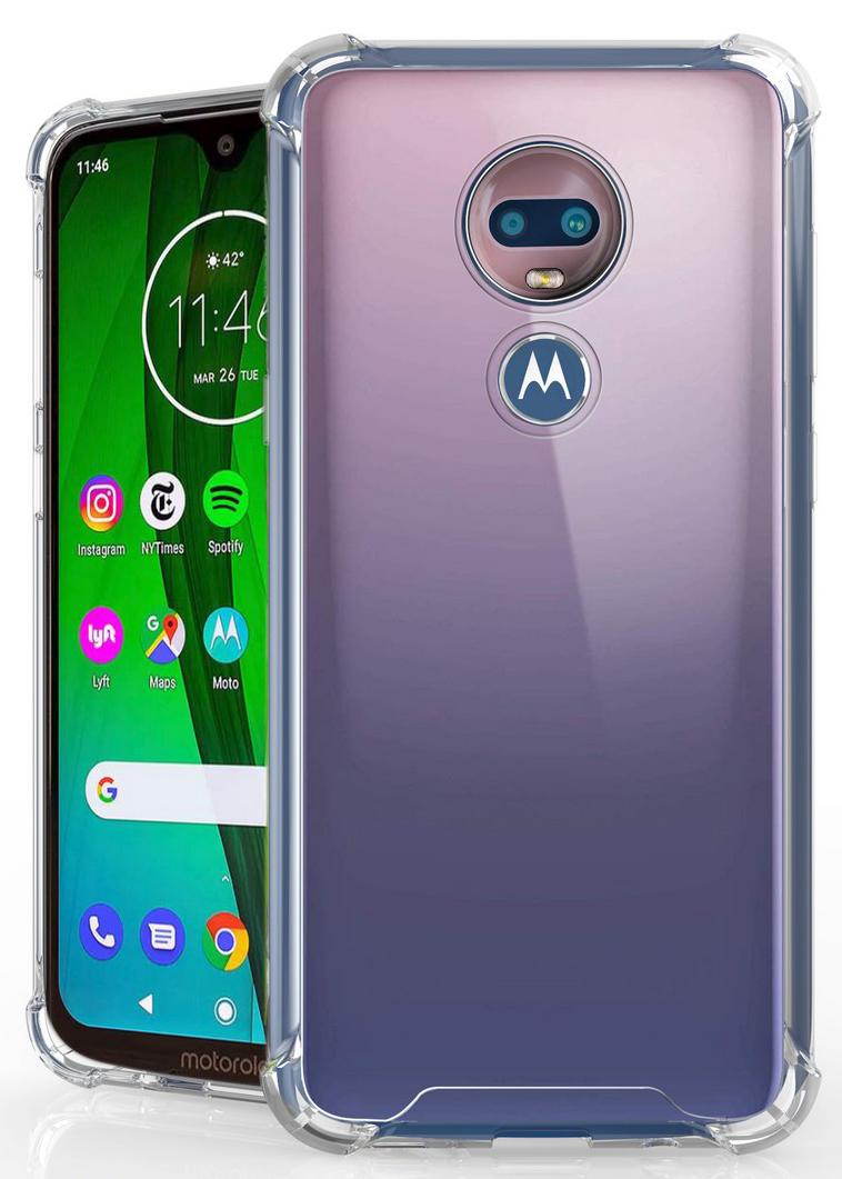 Moto G7 Play Case Walmart : walmart, Play,, Clear, [Aquaflex], Transparent, Flexible, [Shock, Absorbing], Bumper, Cover, Motorola, Optimo, (XT1952), Walmart, Canada