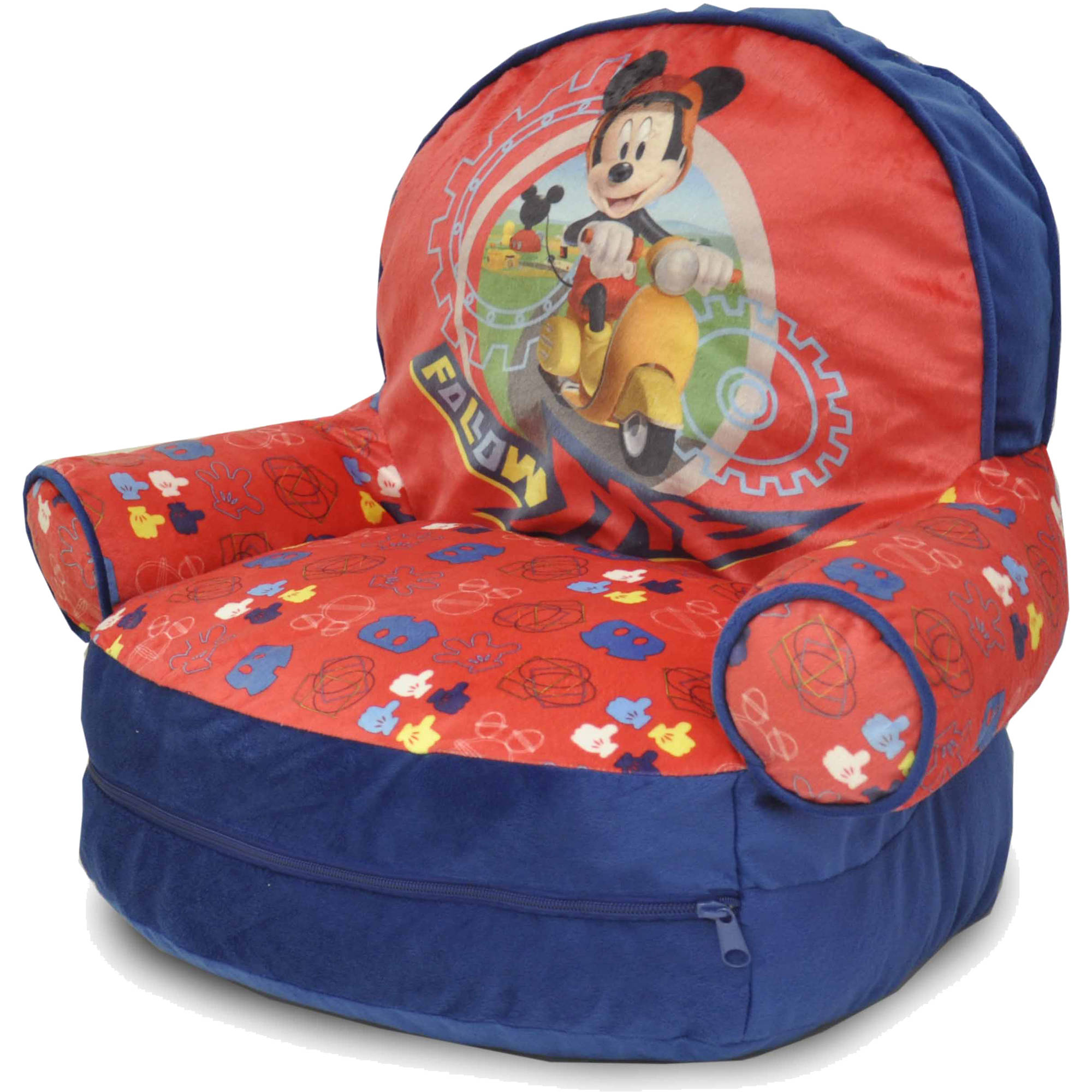 mickey mouse clubhouse bean bag chair bedroom silver disney with bonus slumber walmart com