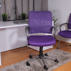 Lilac Office Chair Fishing Or Seat Box Boss Products Purple Guest Walmart Com