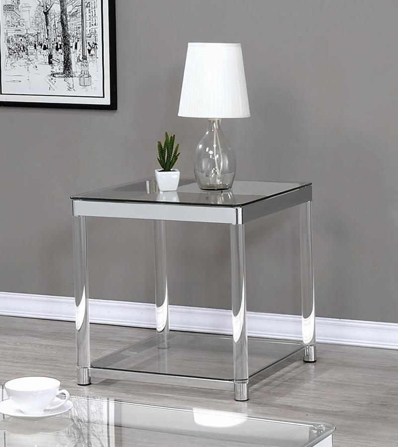 glass end tables walmart com