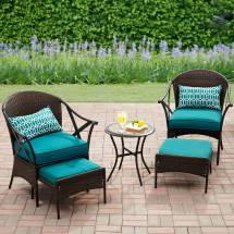 Mainstays Skylar Glen 5-piece Outdoor Chat Set Seats 2