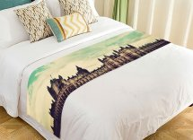 Gckg Cityscape Bed Runner London Big Ben And Palace