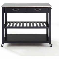 Crosley Kitchen Island Cabinet Organizing Ideas Furniture Stainless Steel Top Cart With Optional Stool Storage Walmart Com