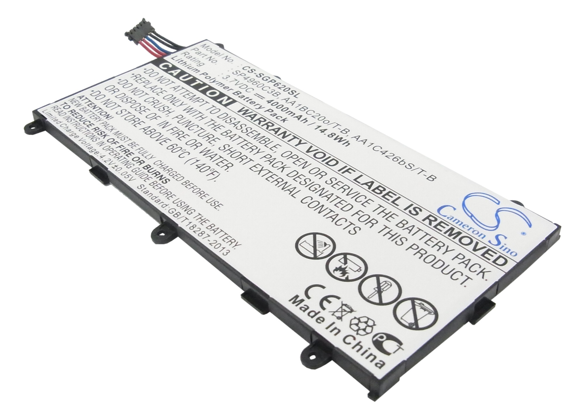 Cameron Sino 4000mAh Battery Compatible With Samsung GT