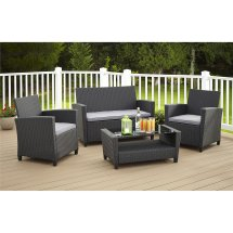 cosco outdoor malmo 4-piece resin