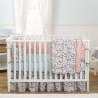 Balboa Baby 4 Piece Baby Girl Crib Bedding Set - Grey and ...