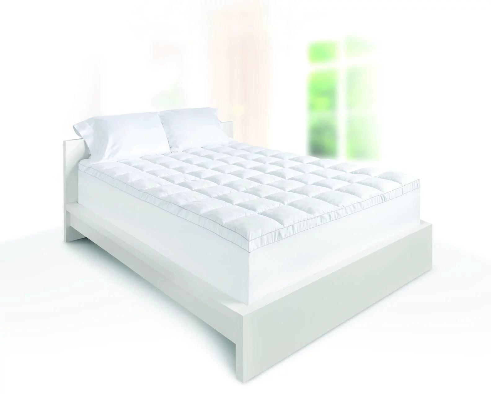 dream serenity 4in luxury pillow top and memory foam topper walmart com