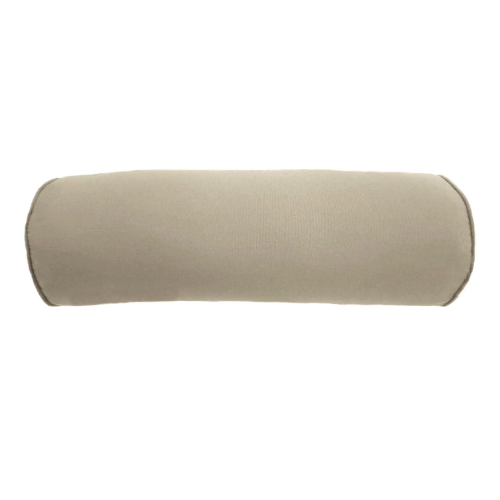 easy way 20 x 7 in solid sunbrella outdoor bolster pillow