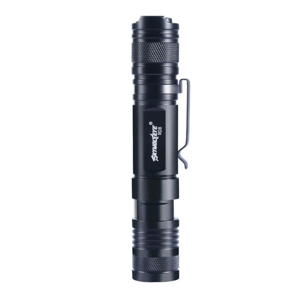 Skywolfeye LED Flashlight Telescopic Zoom Touch USB Rechargeable No Battery - Walmart.com - Walmart.com