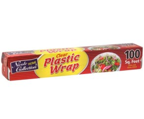 Nicole Home Collection Plastic Wrap, 100 Sq Ft, 1 Ct