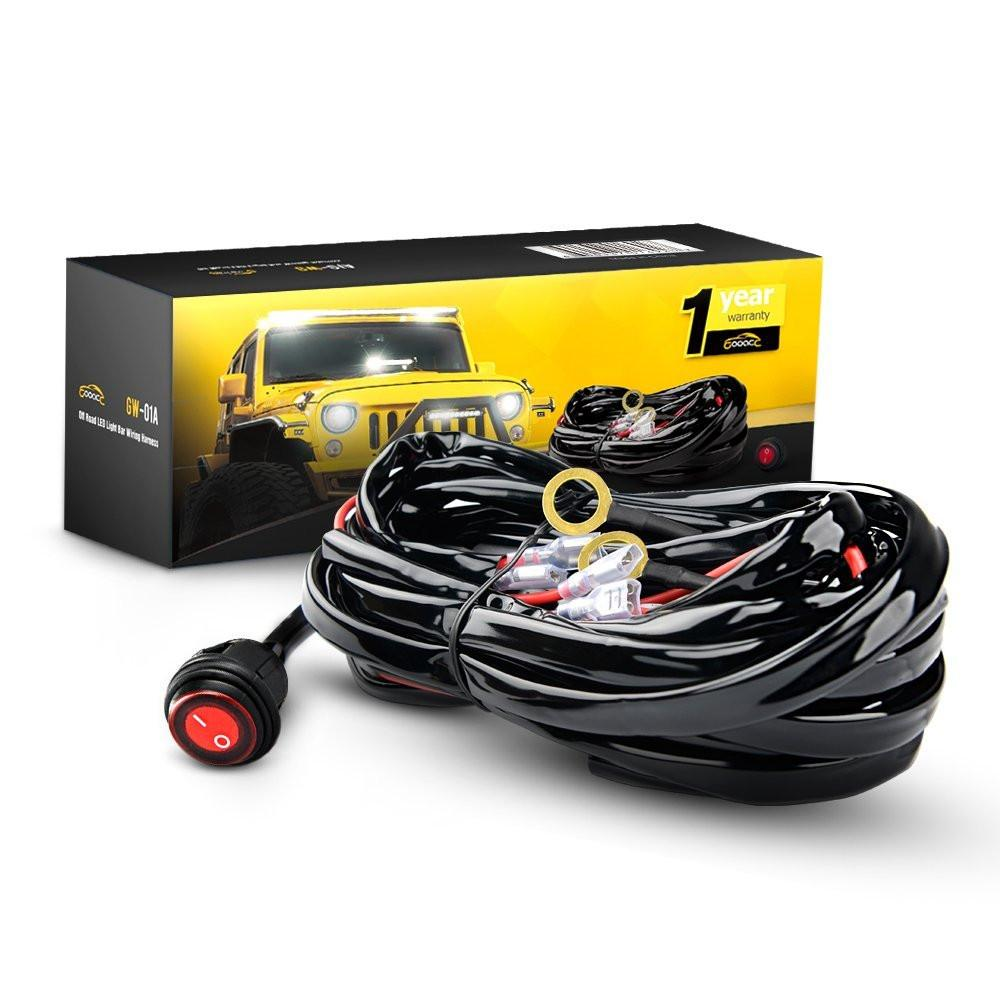 small resolution of gooacc off road led light bar wiring harness kit 12v on off gooacc off road led
