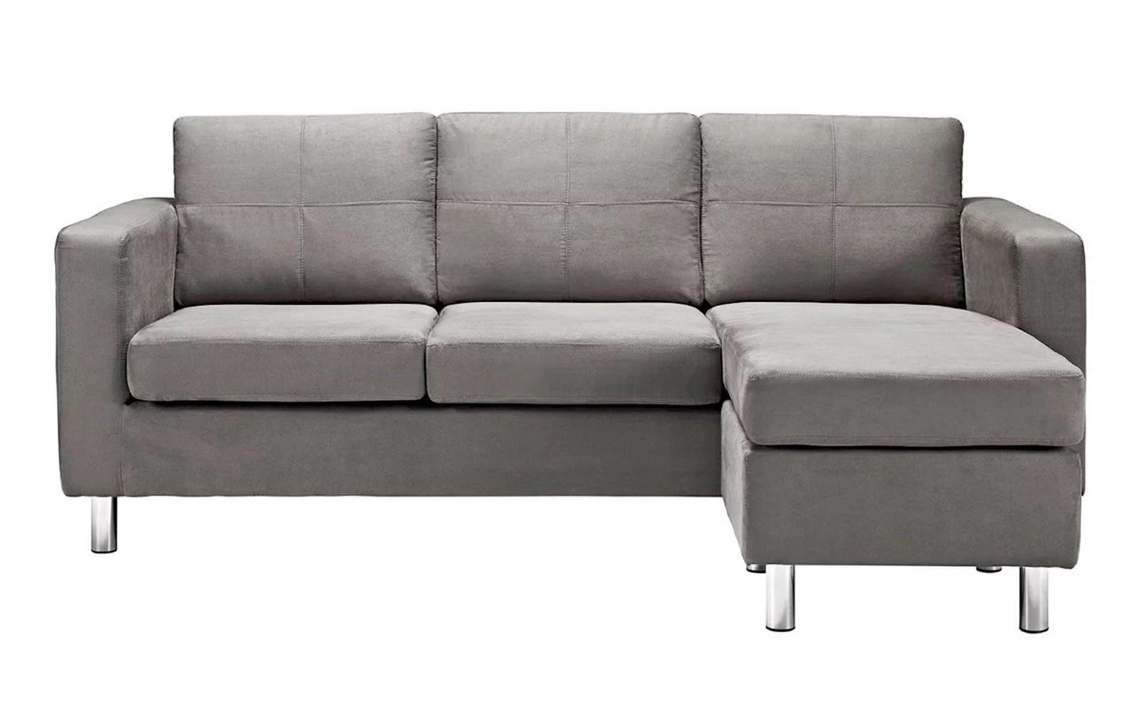 casa andrea milano sectional sofa deep red corner modern reversible small space configurable microfiber ...