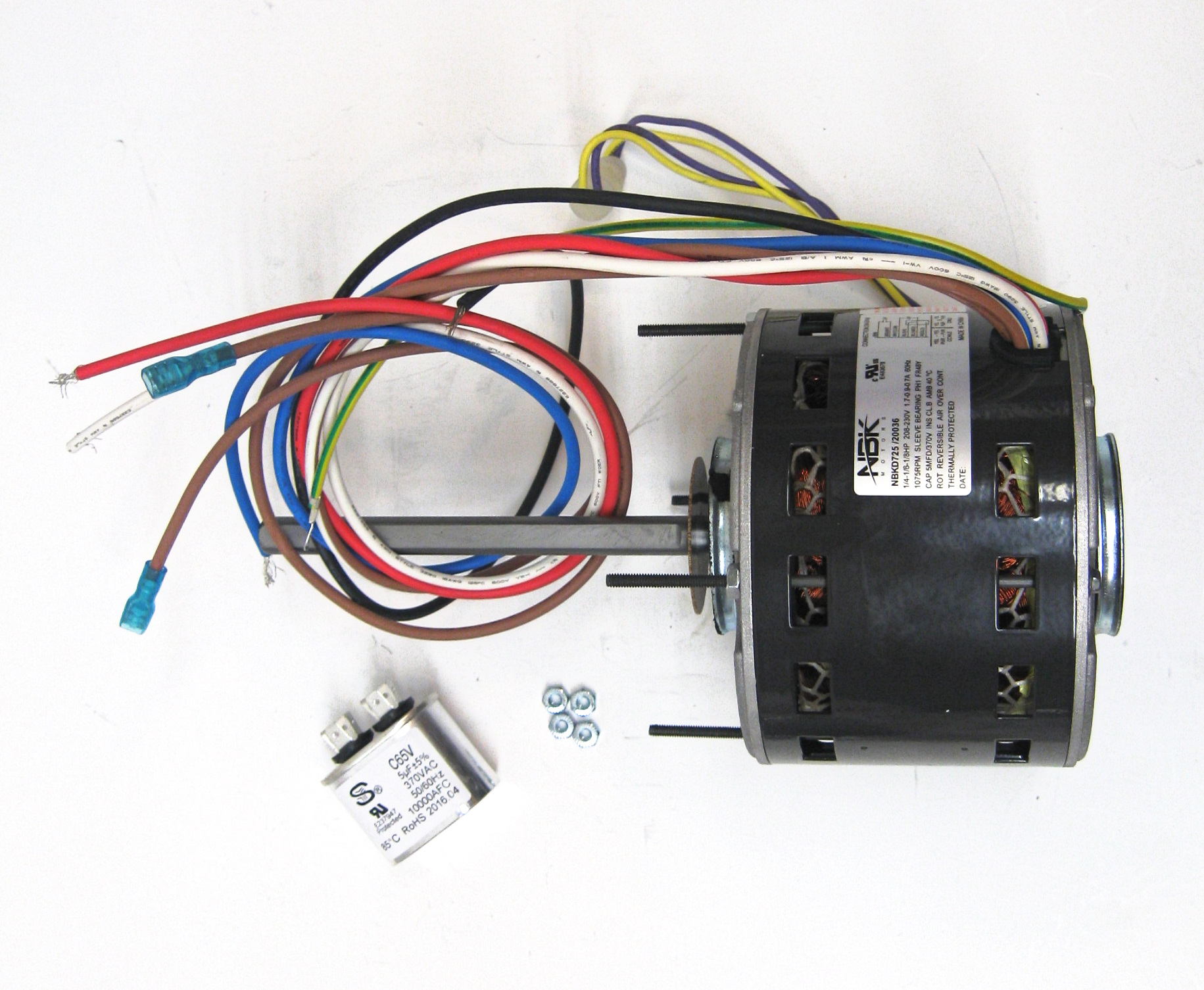 hight resolution of partsconnect hvac direct drive blower motor and capacitor pcd725 walmart com