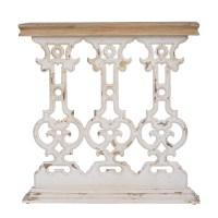 A&B Home Classic Vintage White Wash Console Table ...