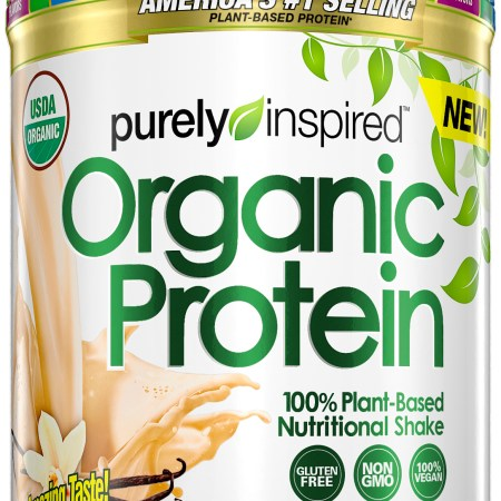 Image result for Purely Inspired Organic Protein, Plant Based Protein Powder, French Vanilla, 1.1 Pounds