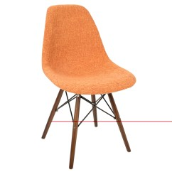 Mid Century Modern Accent Chair Orange Chairs Yellow Brady Duo Dining In Grey
