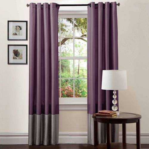 "Prima Gray Purple Window Curtains Pair 54"" X 84"" Walmart Com"