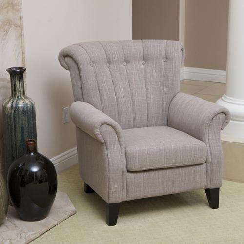 christopher knight club chair wheelchair and walker home waldorf channel tufted light mocha fabric walmart com