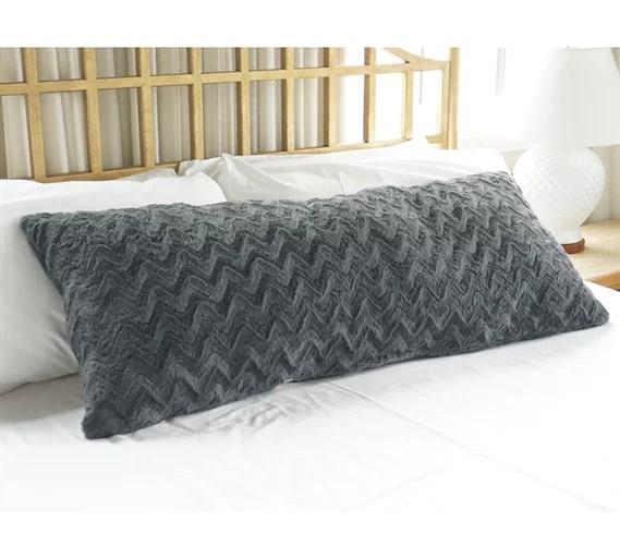 plush body pillow steel gray walmart com