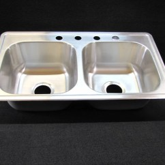 33x19 Kitchen Sink Modern Backsplash 33 X 19 8 Extra Deep Double Bowl Stainless Mobile Home Rv Walmart Com