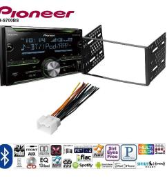 pioneer double din cd receiver built in bluetooth and siriusxm ready ford 1998 2008 ranger car radio stereo cd player dash install mounting kit harness [ 1000 x 1000 Pixel ]