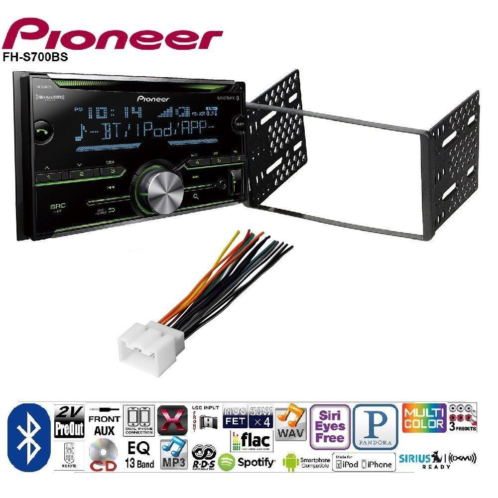 medium resolution of pioneer double din cd receiver built in bluetooth and siriusxm ready ford 1998 2008 ranger car radio stereo cd player dash install mounting kit harness