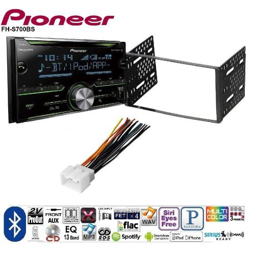 small resolution of pioneer double din cd receiver built in bluetooth and siriusxm ready ford 1998 2008 ranger car radio stereo cd player dash install mounting kit harness