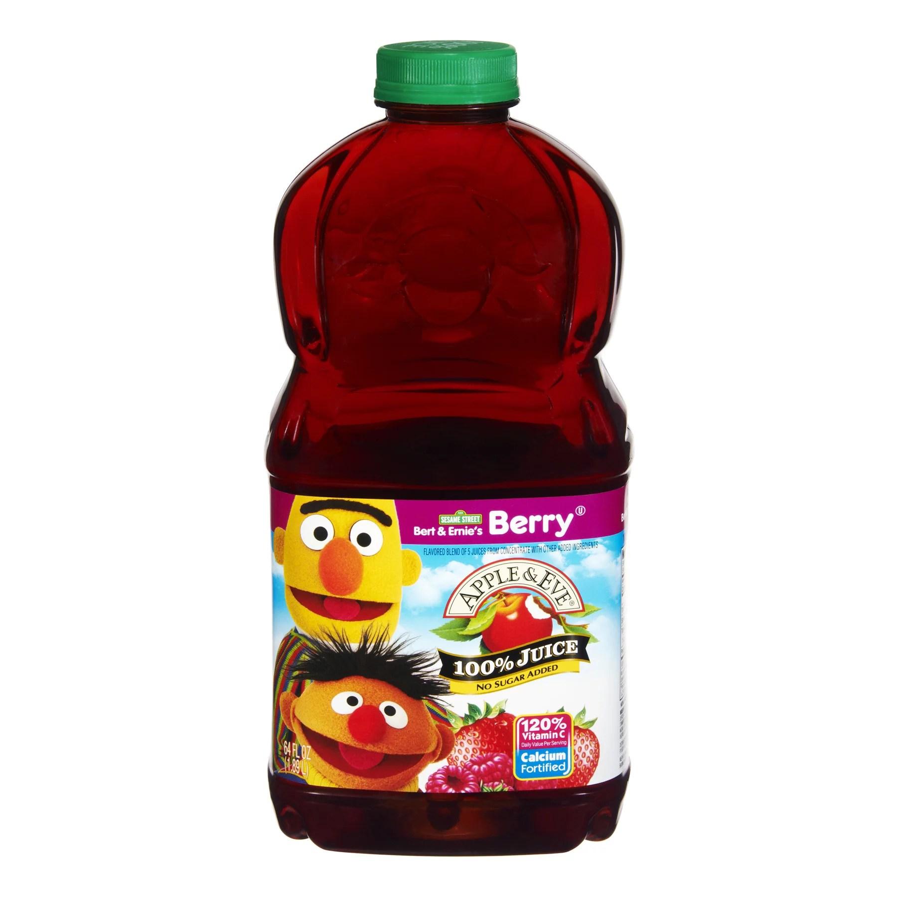 Apple Eve Sesame Street Berry 100 Juice 64 Fl Oz