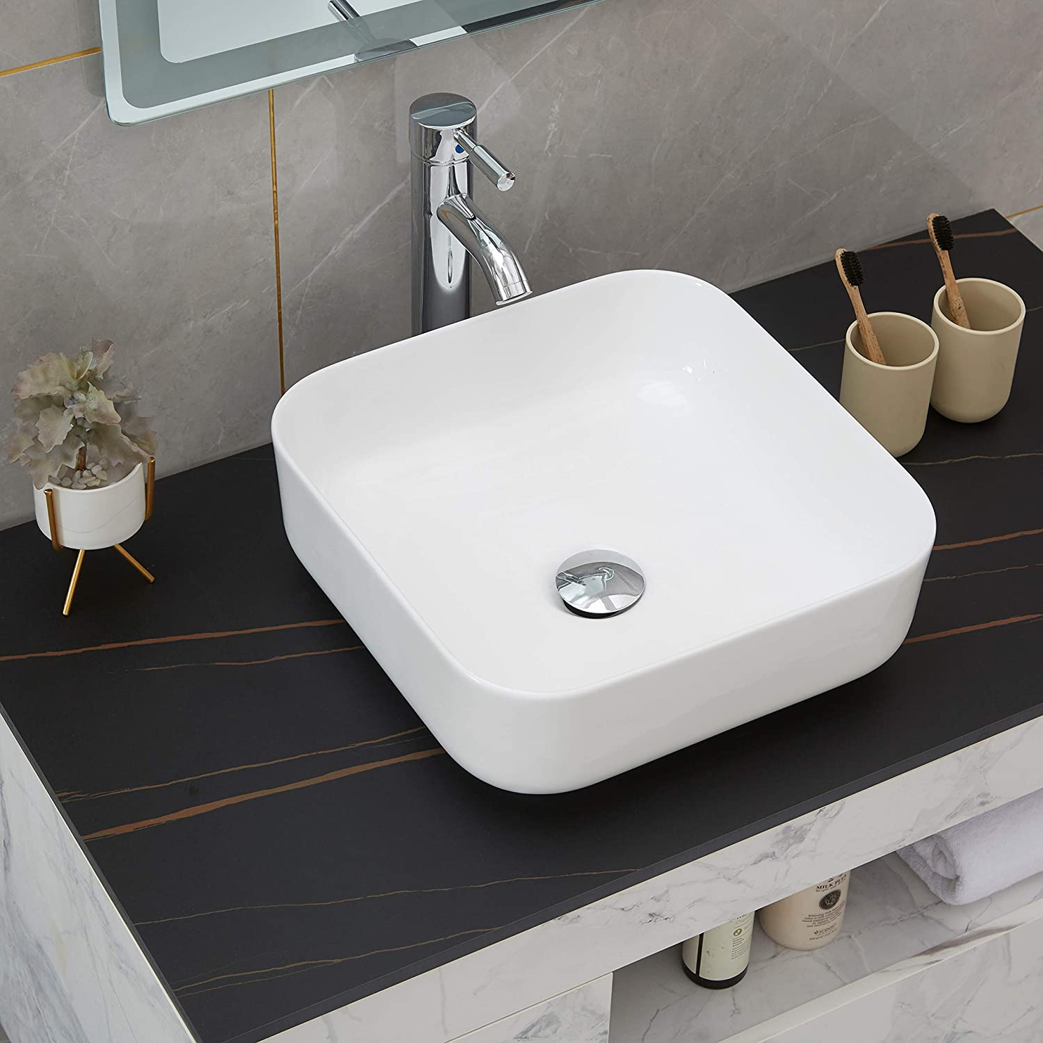 bathroom sink and faucet combo bathroom vanity vessel sink white rectangle above counter porcelain ceramic bathroom vessel sink art basin faucet