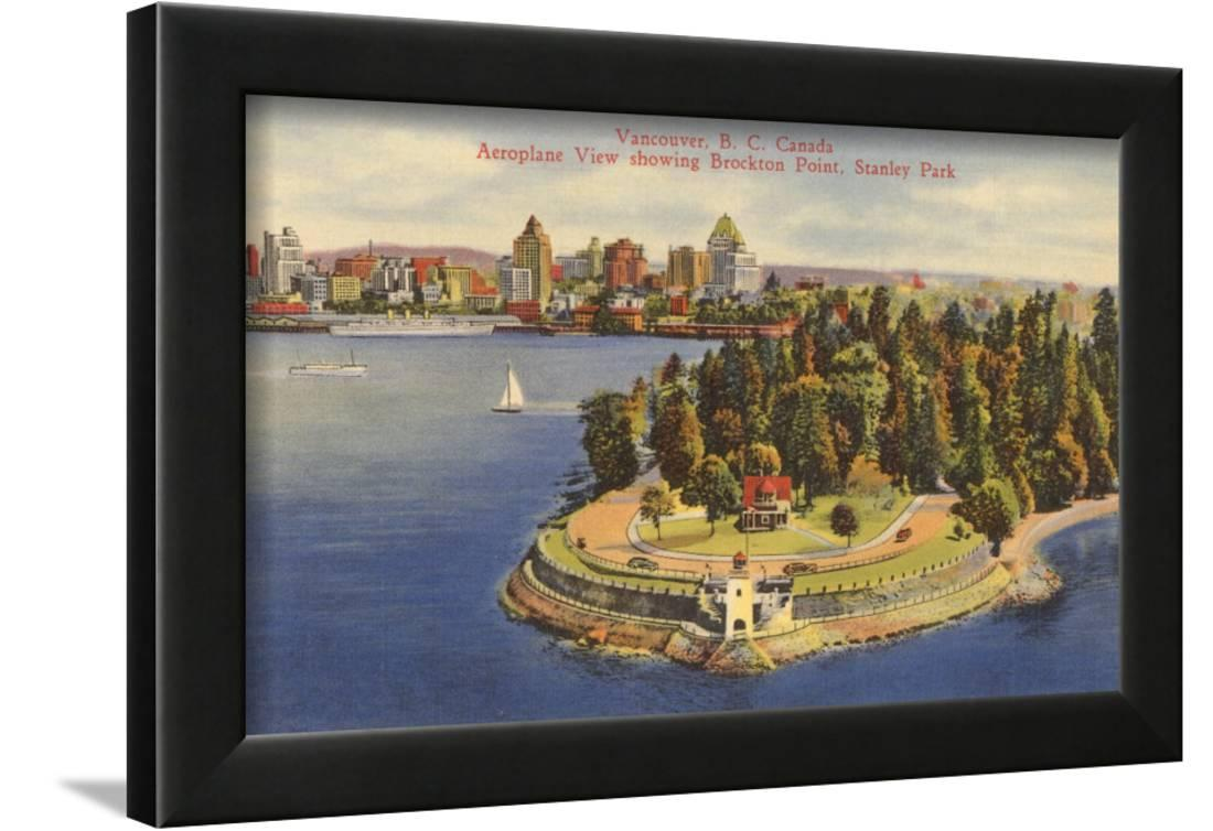 Aerial View Of Vancouver British Columbia Framed Print