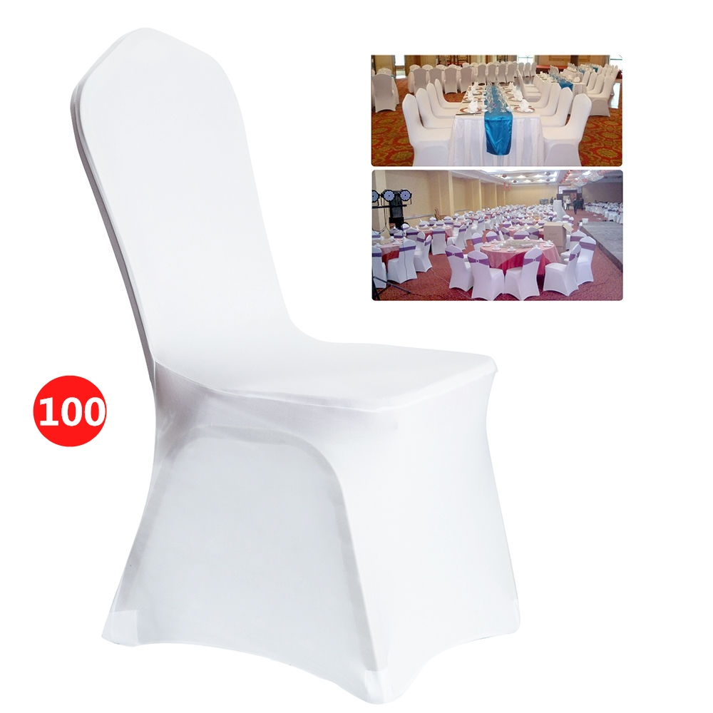 white banquet chair covers amazon massage clearance hascon 100 pcs spandex for wedding supply party decoration folding cover walmart com