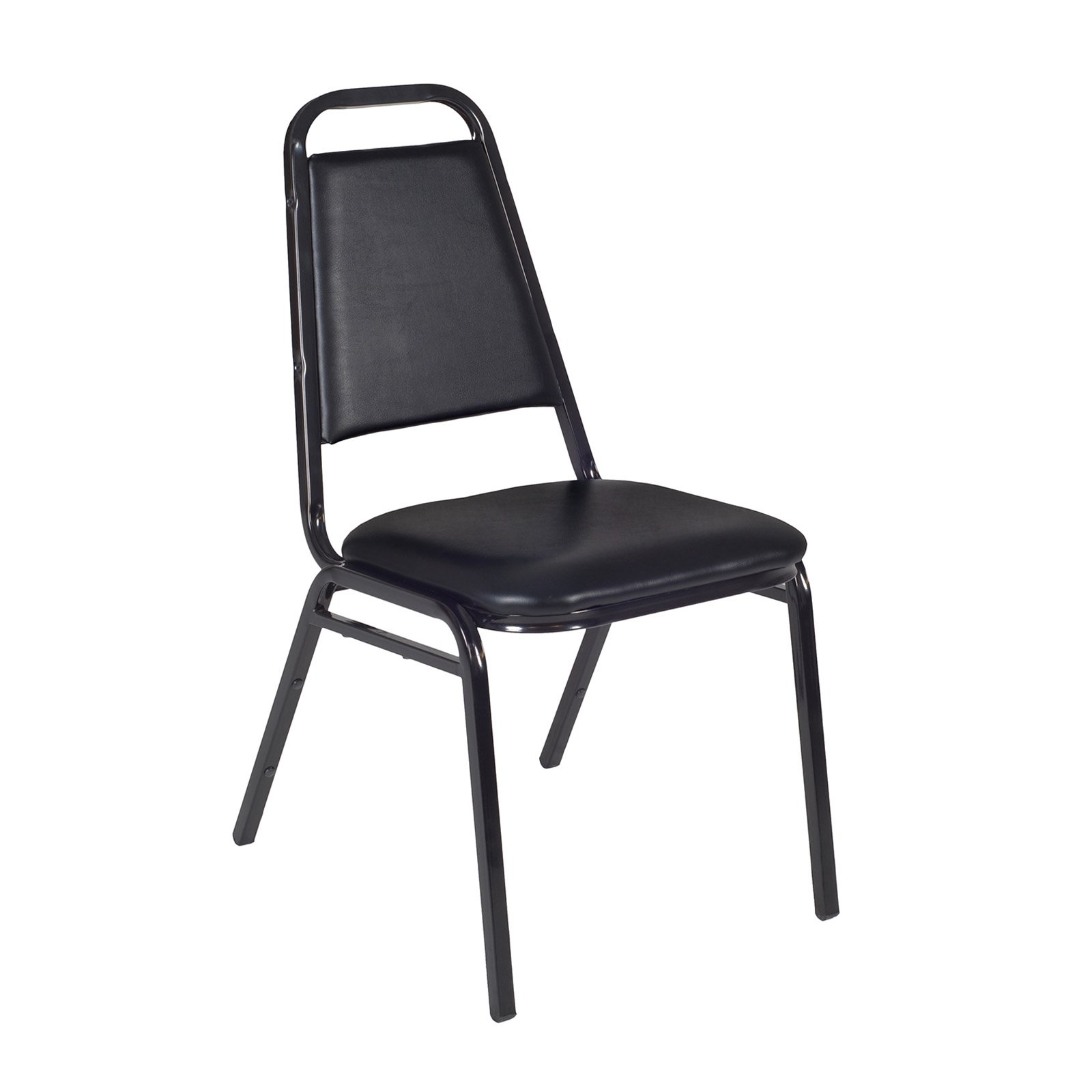 stackable padded chairs square kitchen table with 8 regency restaurant chair black walmart com