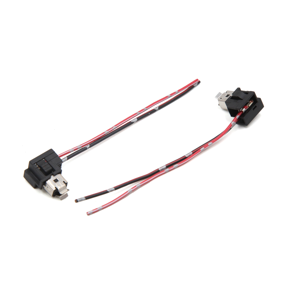 hight resolution of 2pcs h1 dc 12v car bulb holder light socket headlight connector wire harness