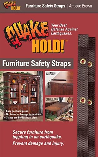 QuakeHOLD! 4162 Brown Furniture Safety Strap, by Ready America