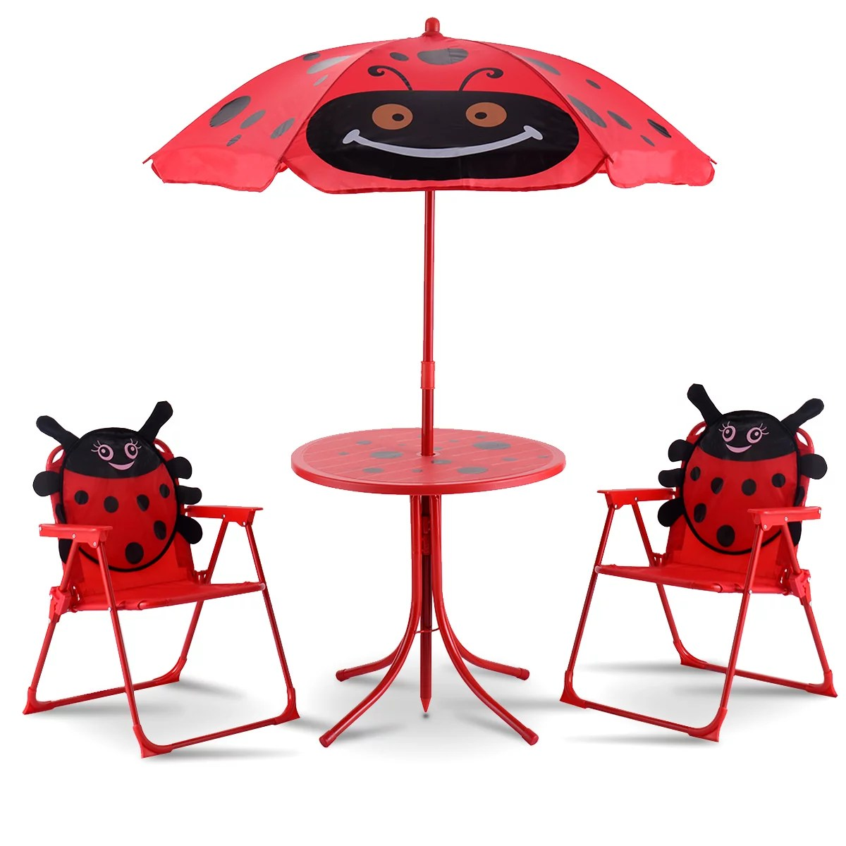 kids outdoor chair office reupholstery kid s furniture walmart com product image costway patio set table and 2 folding chairs w umbrella beetle garden yard
