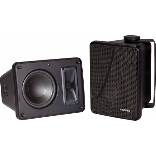 """Kicker 11KB6000B 6.5"""" Black Indoor Outdoor/Marine Speakers"""