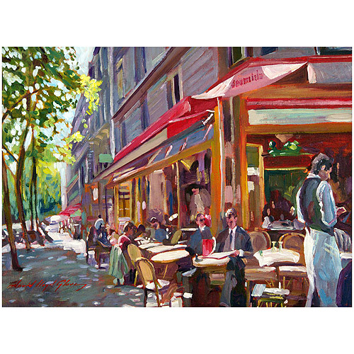 Trademark Art Paris Cafe Canvas Wall Art By David Lloyd