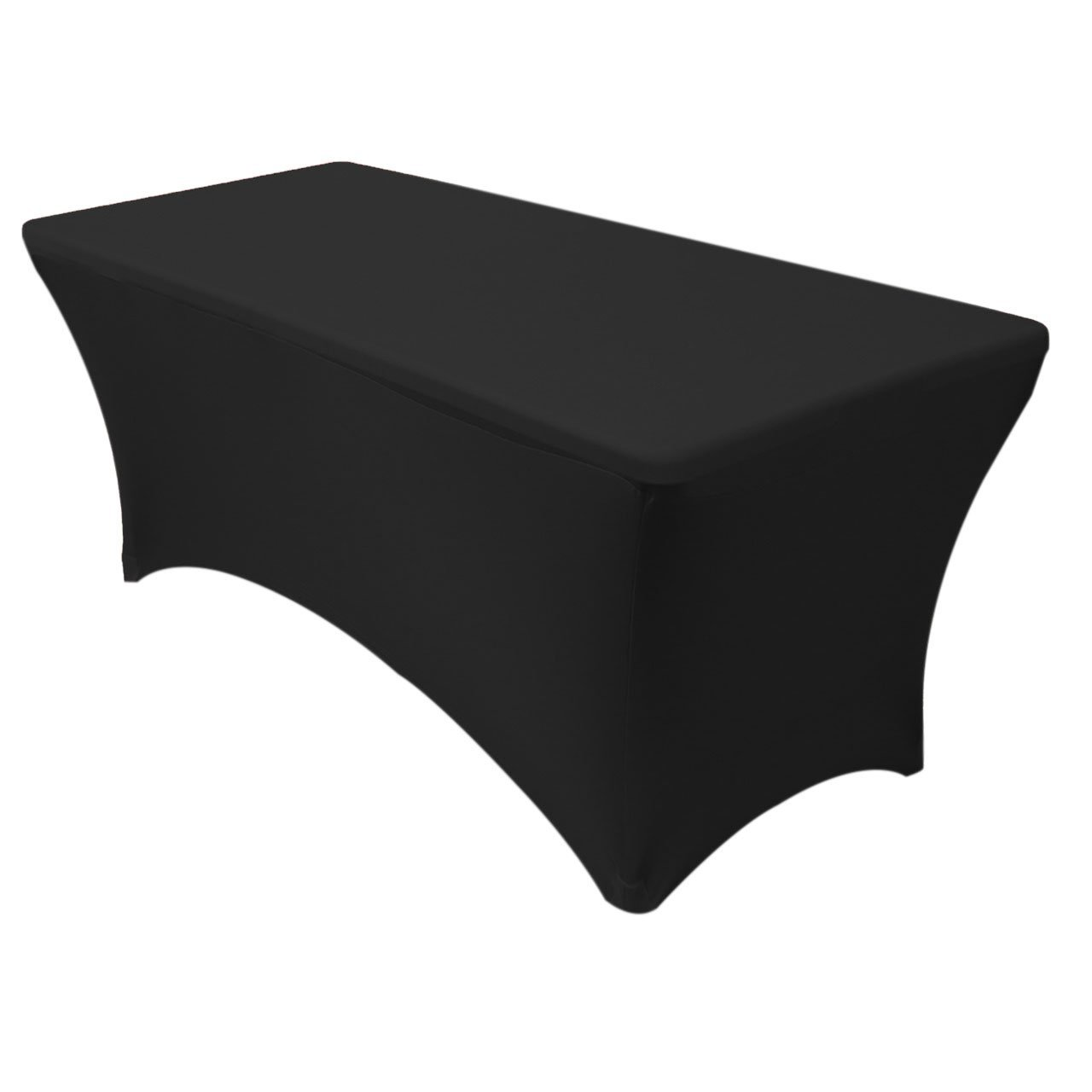 black chair covers walmart herman miller task yourchaircovers 6 ft rectangular stretch tablecloth wrinkle and stain resistant spandex fabric by your com