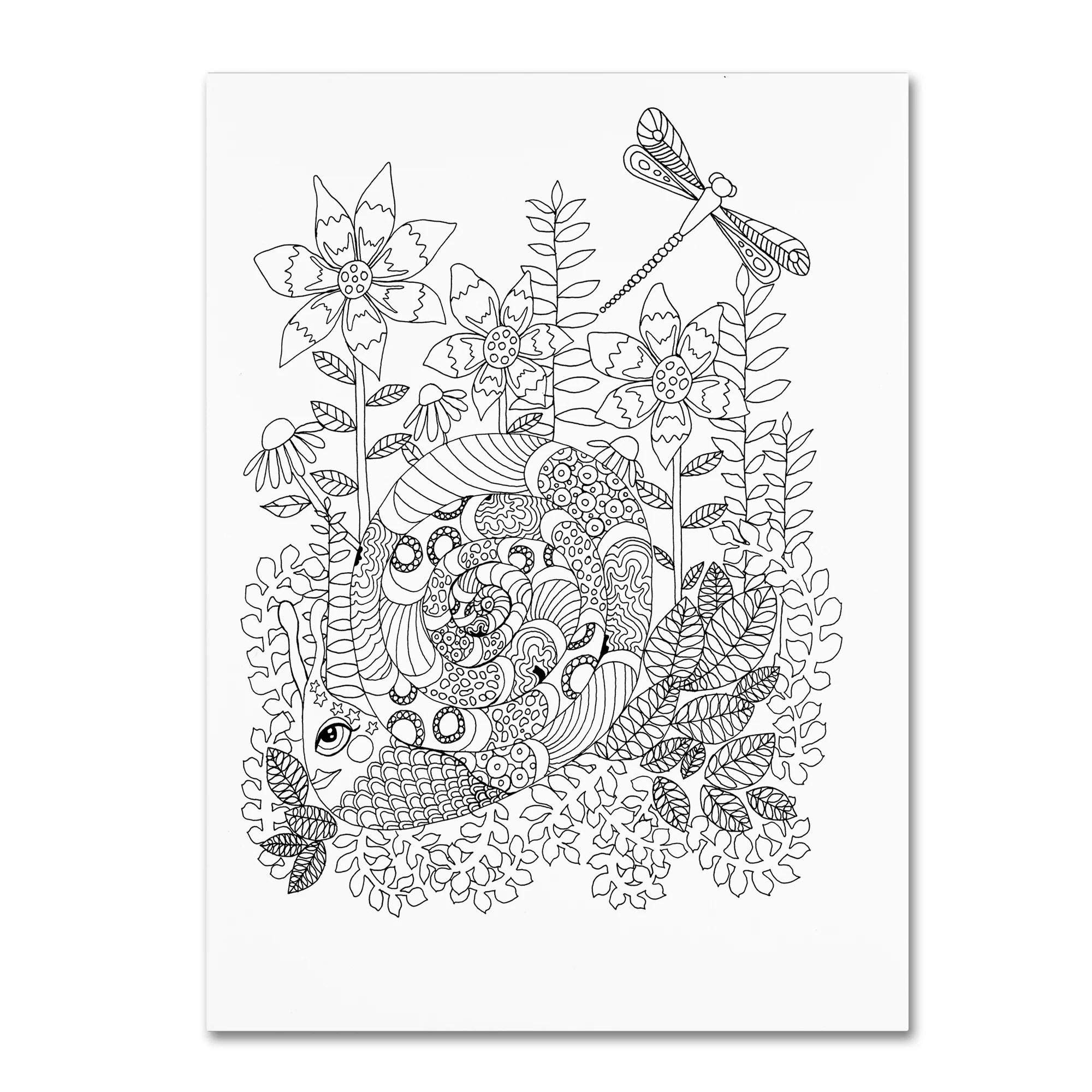Trademark Fine Art Fancy Snail Canvas Art By Kim Kosirog