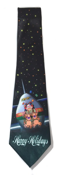 Stonehouse Collection Men's Airplane Christmas Tie