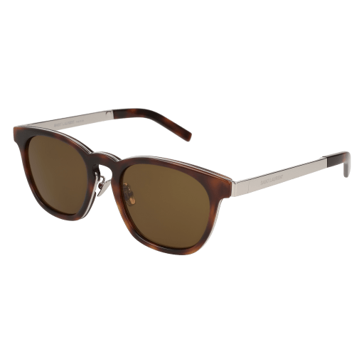 Sunglasses Saint Laurent SL 28 /F COMBI- 003 AVANA / BROWN SILVER