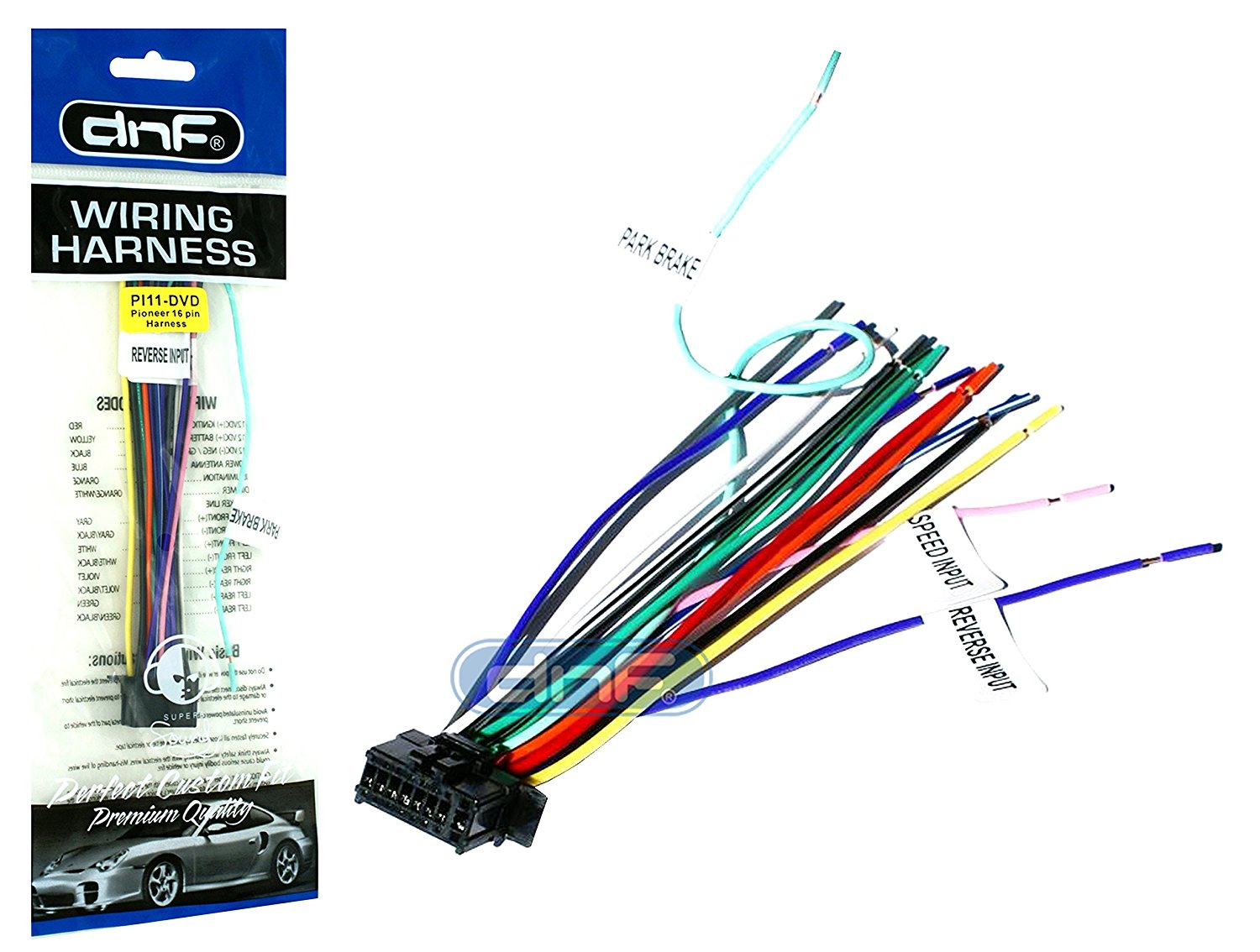 hight resolution of dnf new pioneer wiring harness avh x6700 dvd sm deh 100 copper wires walmart com