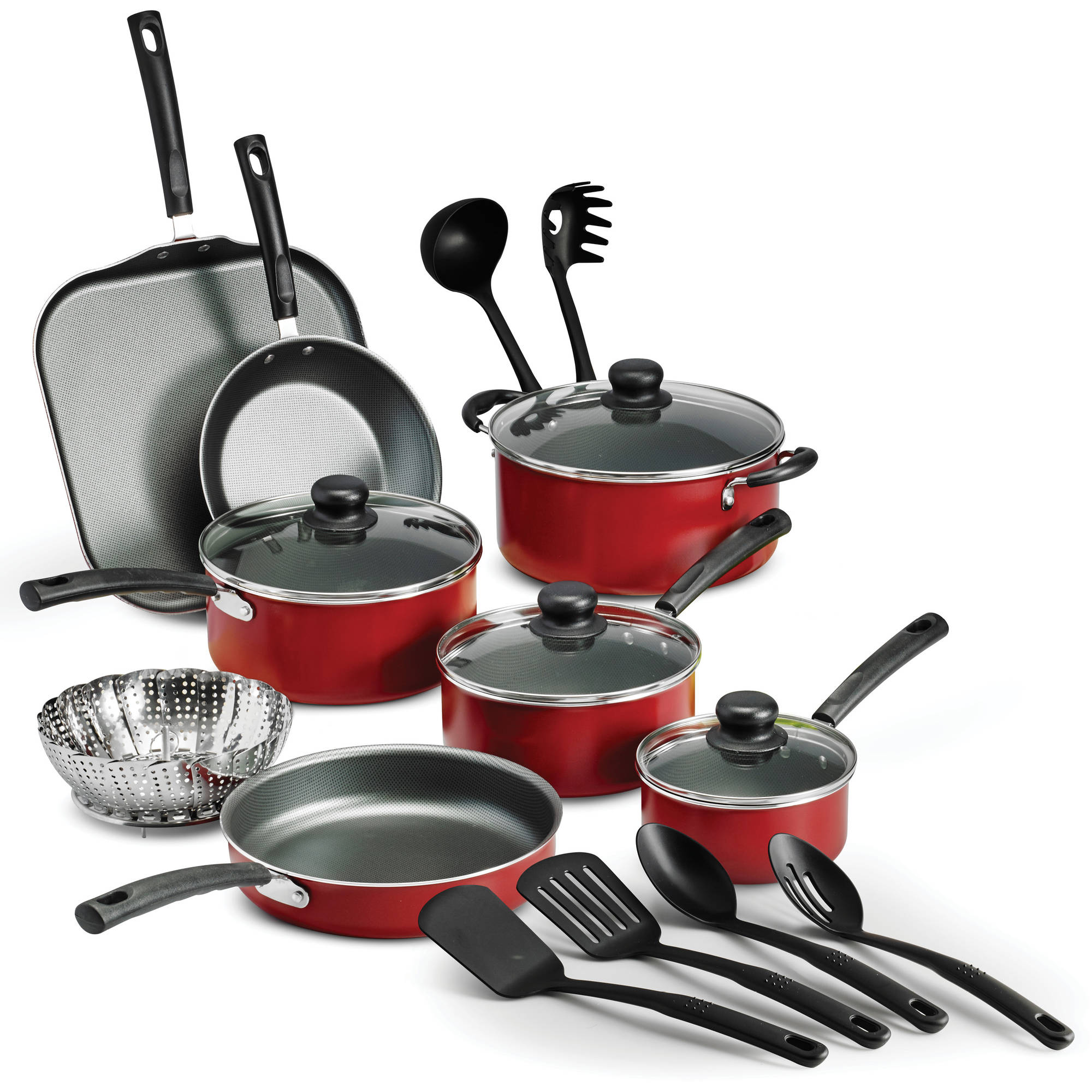 kitchen pots and pans essential tools for the tramontina primaware 18 piece nonstick cookware set walmart com
