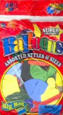 JaRu Balloons Big Bag Assorted Styles and Sizes Pack of