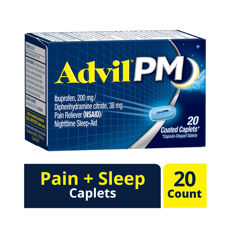ADVIL PM CAPLET 20 CAPSULES - Walmart.com