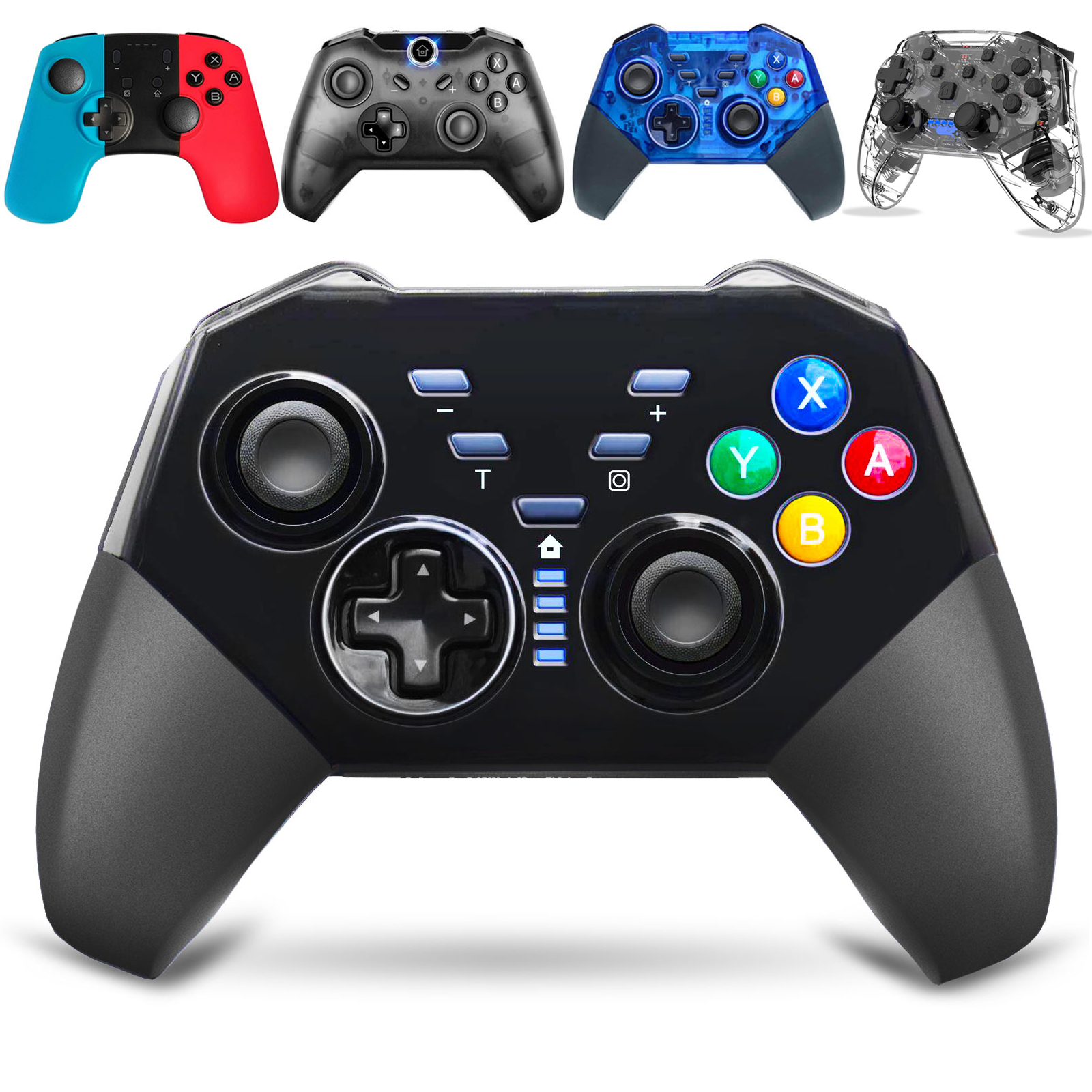 Wireless Controller for Nintendo Switch. 2/1PC Switch Lite Remote Pro Controller w/Axis Gyro Dual Shock Function. Motion Control Pro Switch Game ...