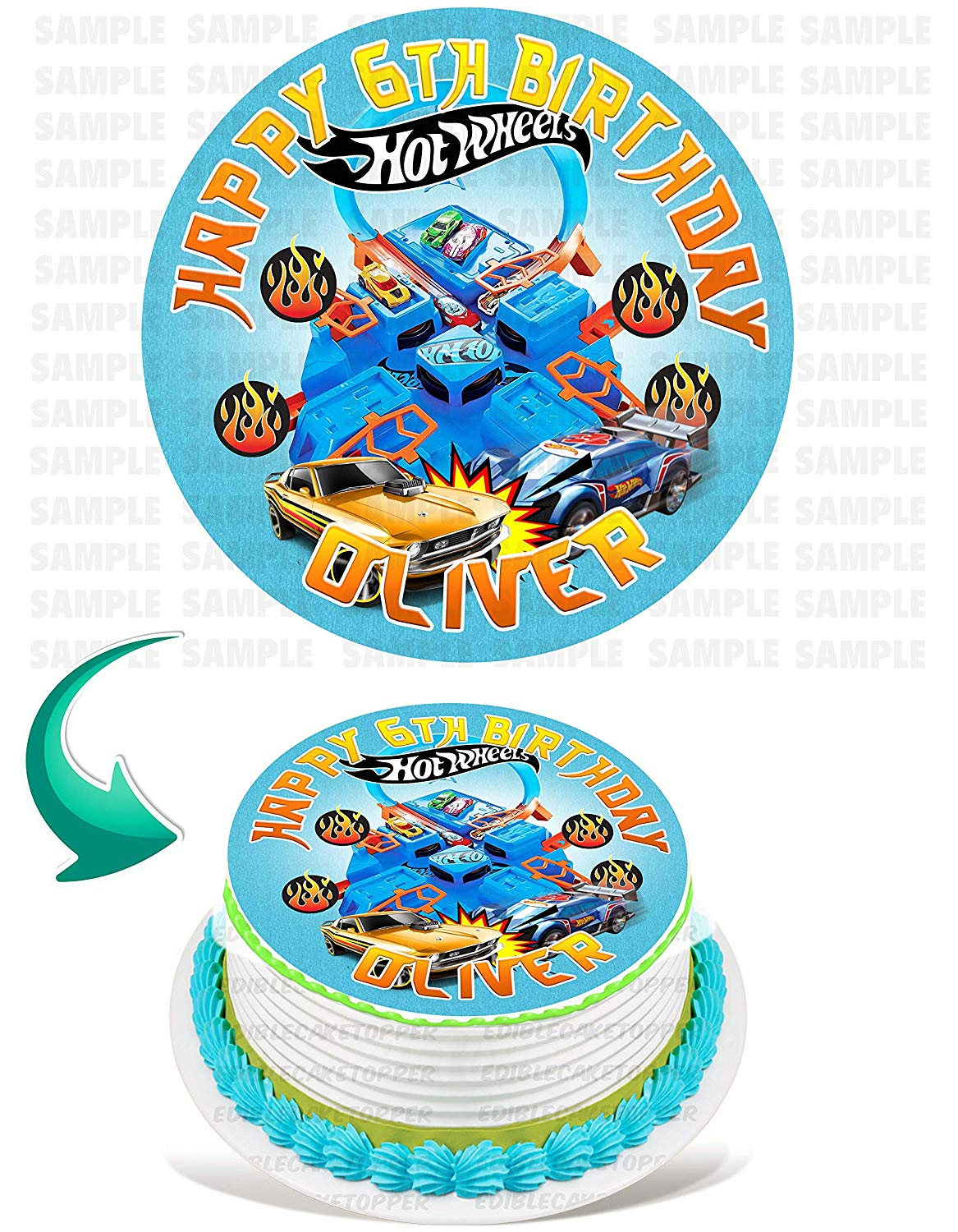 Hot Wheels Cake Walmart : wheels, walmart, Wheels, Edible, Image, Topper, Personalized, Birthday, Party, Inches, Round, Walmart.com