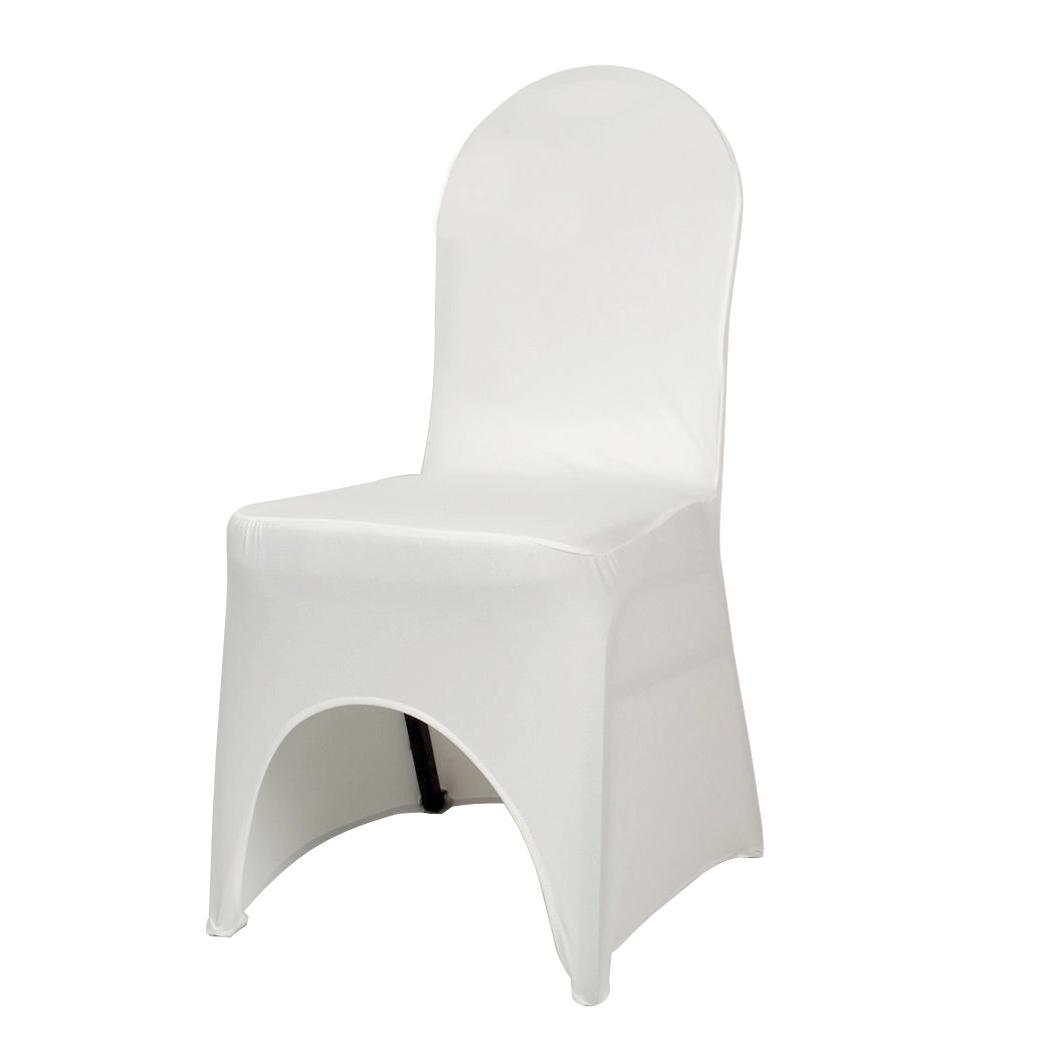 spandex banquet chair covers for sale desk wheel replacement 100pcs white polyester wedding elastic departments