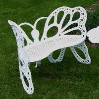 FlowerHouse Outdoor Butterfly Bench, Multiple Colors ...