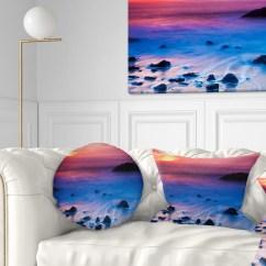 Bright Colored Sofa Pillows Bed 200 X 150 Design Art Designart 39bright Colorful Rocky Coast Panorama